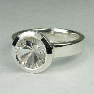 RA202 Bergkristall 9 mm concav