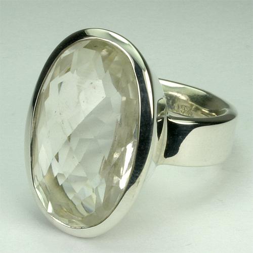 RA110-6 Bergkristall 30 15x23 mm oval