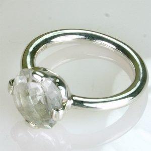 RA245 Bergkristall 10x10 mm